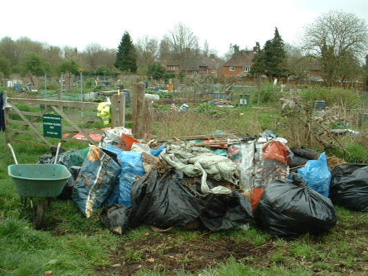 Sacks of rubbish collected during Big Pick week.