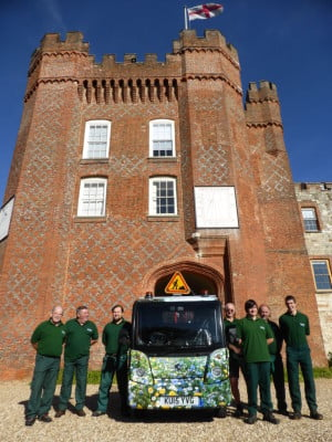 Outside Services Team and the new hybrid vehicle.