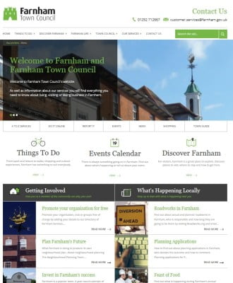 www.farnham.gov.uk Home page