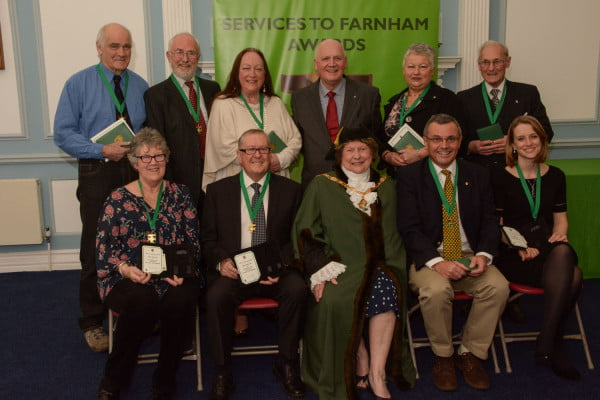 Services to Farnham Awards 2016.